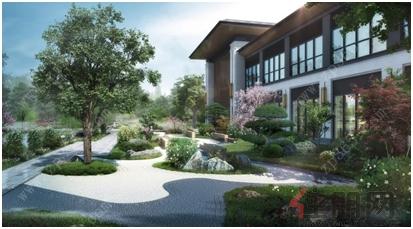 院落中的景观增添了泰山石,大理石,松,竹,乔等元素,营造出曲折多变,小