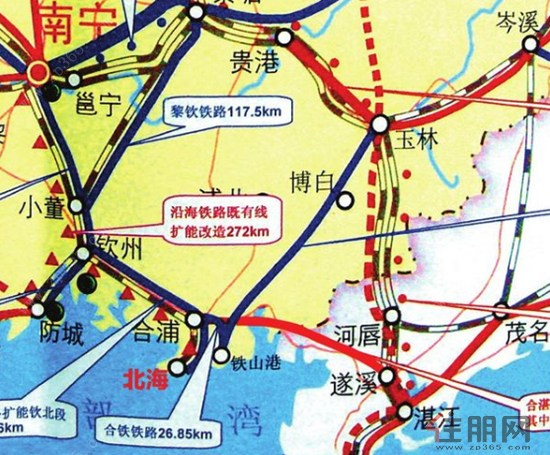 广西高铁建设情况,北海铁路逐渐成熟