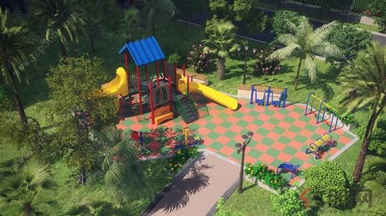 p;小区内有儿童乐园供