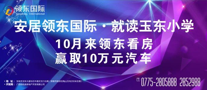 10月来领东国际看房,赢取10万元汽车!