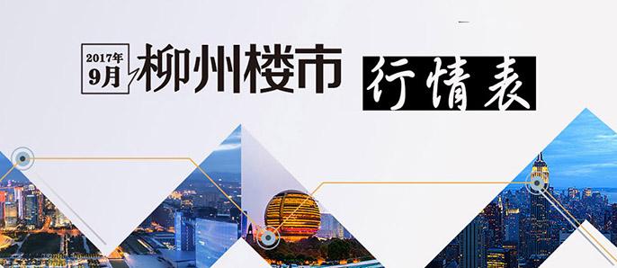 2017年9月柳州楼市行情表