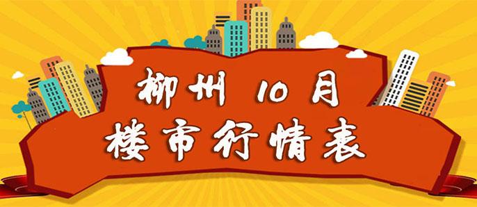 2017年10月柳州楼市行情表