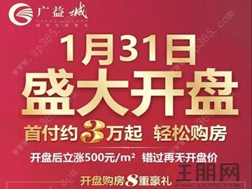 广益城1月31日开盘 首付约3万起