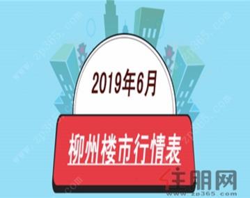 2019年6月柳州楼市行情表