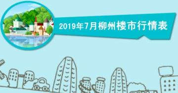 2019年7月柳州楼市行情表